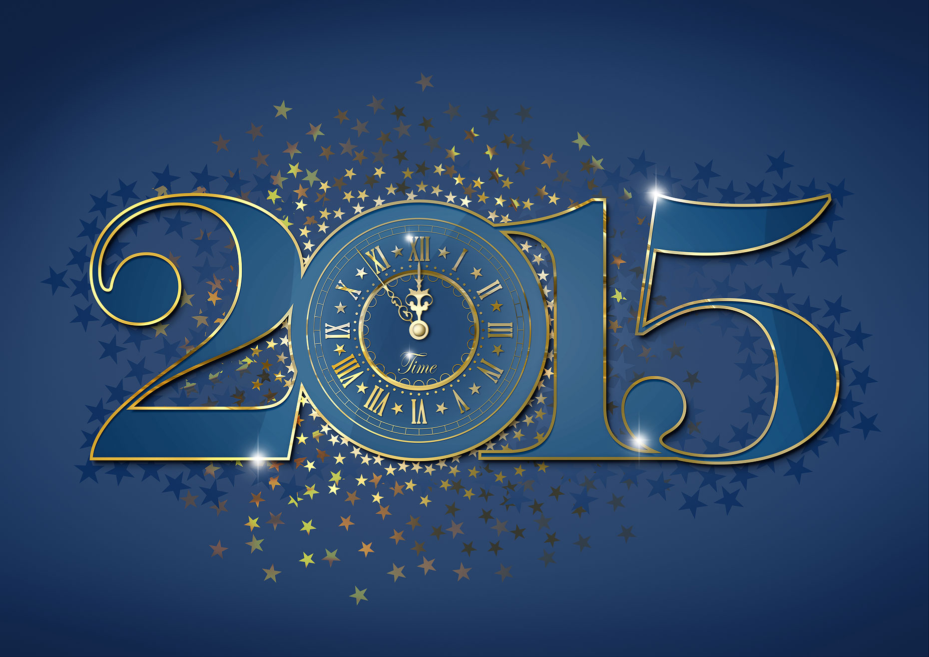 Clock 2015 New year